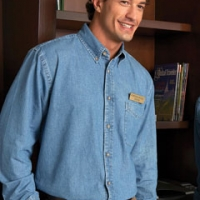 Monogrammed Harriton Denim Shirts