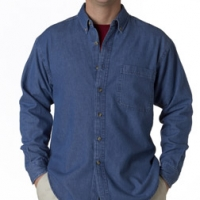 Embroidered UltraClub Denim Shirts