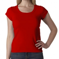 Embroidered Ladies Scoop Neck