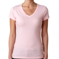 Embroidered Ladies V-Neck
