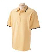 logo polo shirts with trim