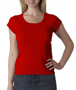 (1003br) Bella Ladies' Short-Sleeve Scoop-Neck T-Shirt
