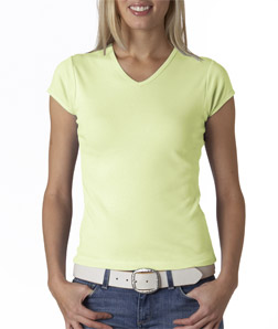(1005br) Bella Ladies' Short-Sleeve V-Neck T-Shirt