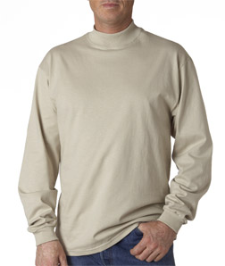 (12479br) Anvil Adult Long-Sleeve Mock Turtleneck