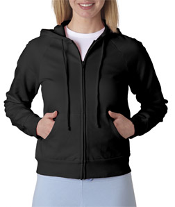 (7007br) Bella Ladies' Fleece Raglan Hooded Sweatshirt