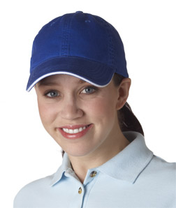 (8104br) UltraClub Classic Cut Chino Cotton Twill Unconstructed Sandwich Cap