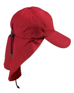 Adams 6-Panel Cap with Elongated Bill and Neck Cape