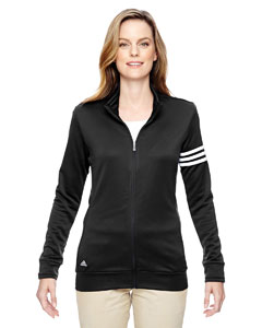 adidas Golf Ladies' climalite 3-Stripes Full-Zip Jacket