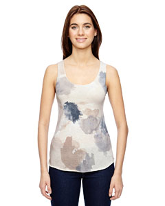 Alternative Ladies' Eco Jersey Triblend Meegs Printed Racerback Fashion Tank
