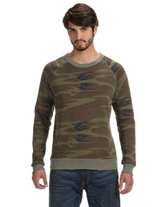 Alternative Men's Eco Fleece Triblend Champ Fashion Crew Sweatshirt