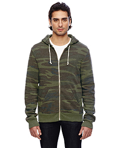 Alternative Men's Eco Fleece Triblend Rocky Full-Zip Fashion Hoodie