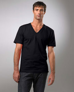 American Apparel Organic Cotton Short Sleeve V-Neck