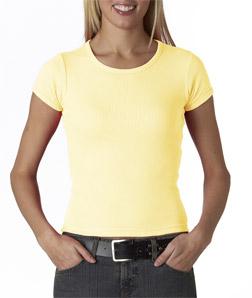 Anvil Ladies' 1X1 Scoop-Neck Tee