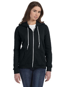 Anvil Ladies' Full-Zip Hooded Fleece Jacket