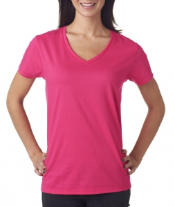 Anvil Ladies' Lightweight V-Neck Cotton Tee
