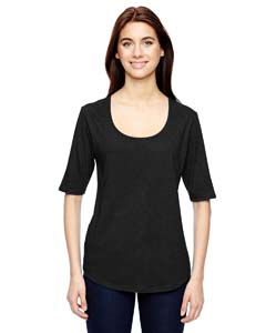 Anvil Ladies' Triblend Deep Scoop Half-Sleeve T-Shirt
