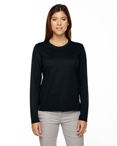Ash City - Core 365 Ladies' Agility Performance Long-Sleeve Pique Crew Neck