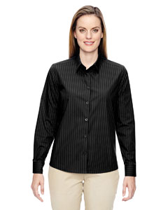 Ash City - North End Ladies' Align Wrinkle-Resistant Cotton Blend Dobby Vertical Striped Shirt