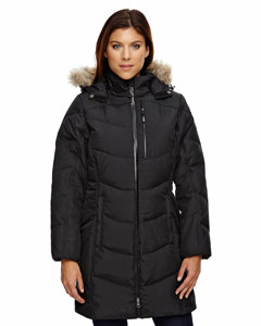 Ash City - North End Ladies' Boreal Down Jacket with Faux Fur Trim