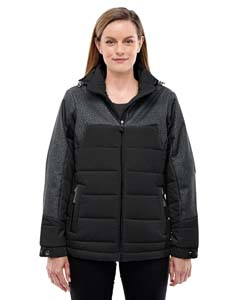 Ash City - North End Ladies' Excursion Meridian Insulated Jacket with Melange Print