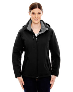 Ash City - North End Ladies' Glacier Insulated Three-Layer Fleece Bonded Soft Shell Jacket with Deta