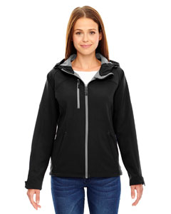 Ash City - North End Ladies' Prospect Two-Layer Fleece Bonded Soft Shell Hooded Jacket