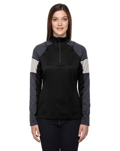 Ash City - North End Ladies' Quick Performance Interlock Half-Zip Top