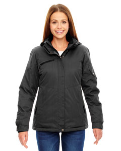 Ash City - North End Ladies' Rivet Textured Twill Insulated Jacket