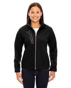 Ash City - North End Ladies' Terrain Colorblock Soft Shell with Embossed Print