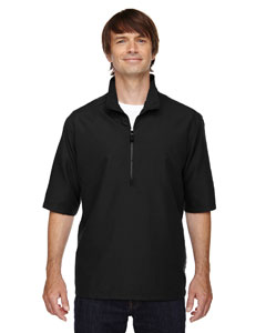 Ash City - North End Men's MICRO Plus Lined Short-Sleeve Wind Shirt with Teflon