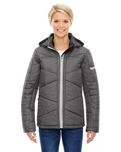 Ash City - North End Sport Blue Ladies' Avant Tech Mlange Insulated Jacket with Heat Reflect Technol