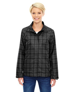 Ash City - North End Sport Blue Ladies' Locale Lightweight City Plaid Jacket