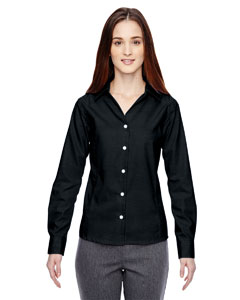 Ash City - North End Sport Blue Ladies' Precise Wrinkle-Free Two-Ply 80's Cotton Dobby Taped Shirt