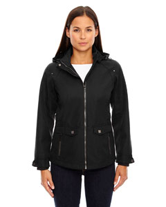 Ash City - North End Sport Blue Ladies Uptown Three-Layer Light Bonded City Textured Soft Shell Jacket