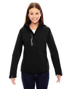 Ash City - North End Sport Red Ladies' Axis Soft Shell Jacket with Print Graphic Accents