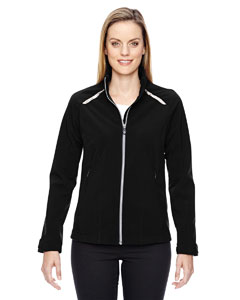 Ash City - North End Sport Red Ladies' Excursion Soft Shell Jacket with Laser Stitch Accents