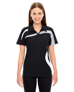 Ash City - North End Sport Red Ladies' Impact Performance Polyester Pique Colorblock Polo
