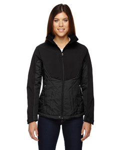 Ash City - North End Sport Red Ladies' Innovate Insulated Hybrid Soft Shell Jacket