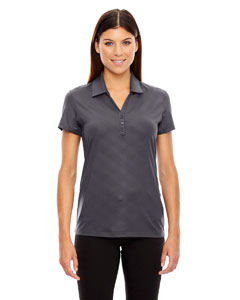 Ash City - North End Sport Red Ladies' Maze Performance Stretch Embossed Print Polo