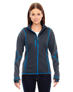 Ash City - North End Sport Red Ladies' Pulse Textured Bonded Fleece Jacket with Print