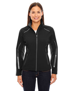 Ash City - North End Sport Red Ladies' Pursuit Three-Layer Light Bonded Hybrid Soft Shell Jacket wit