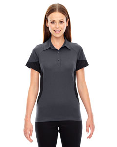 Ash City - North End Sport Red Ladies' Refresh UTK cool.logik Coffee Performance Mlange Jersey Polo