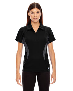 Ash City - North End Sport Red Ladies' Serac UTK cool.logik Performance Zippered Polo