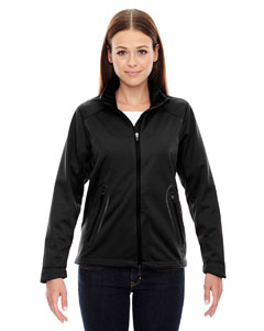 Ash City - North End Sport Red Ladies' Splice Three-Layer Light Bonded Soft Shell Jacket with Laser