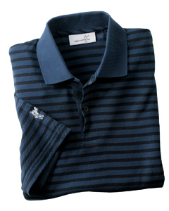 Ashworth Men's Dual Tone Piqu Stripe Polo