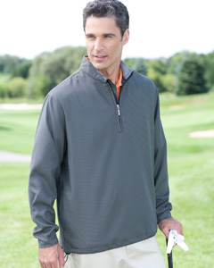 Ashworth Men's Houndstooth Half-Zip Jacket