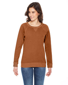 Authentic Pigment Ladies' French Terry Crew