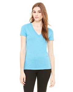 Bella + Canvas Ladies' Triblend Short-Sleeve Deep V-Neck T-Shirt