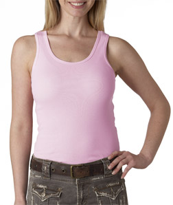 Bella Ladies' 1x1 Rib Tank Top