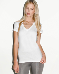 Bella Ladies' 4.2 oz. Jersey Deep V-Neck T-Shirt